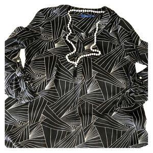 Apt. 9 geometric blouse 3/4 length sleeves